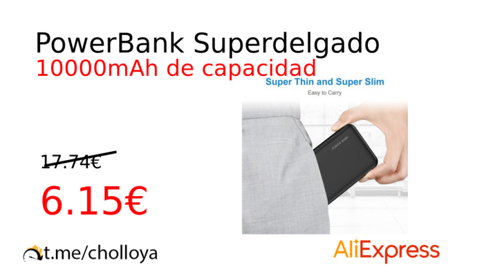 PowerBank Superdelgado