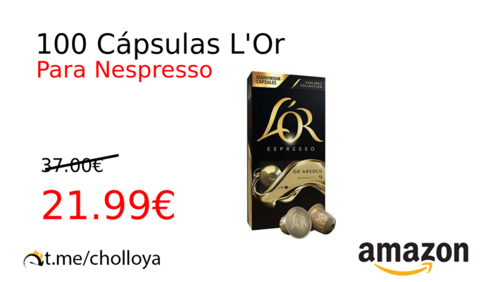 100 Cápsulas L'Or
