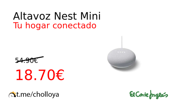 Altavoz Nest Mini