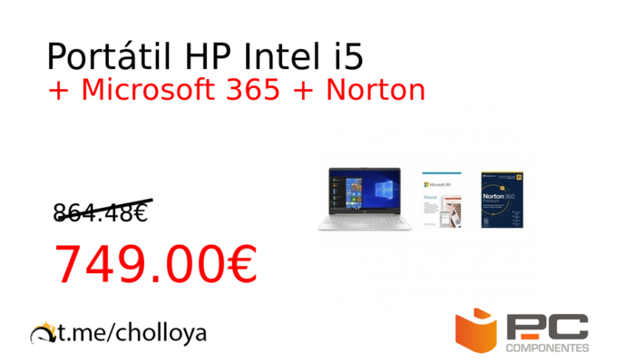Portátil HP Intel i5